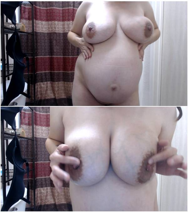 KaraRaven - Lotion 9 Month Pregnant Belly (solo, 1080p, nude, manyvids)