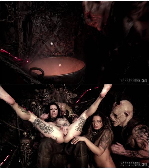 HorrorPorn - Hell Hoes (devil anal.fingering roleplay cum.on.tits 1080p big.tits threesome heavily.tattooed low.light fffffmm fake.tits 2019 megan.inky)