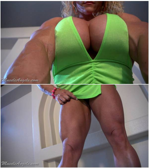[MuscleAngels] Aleesha Young – Voluptuous Muscle [1280x720 hoop.earrings hd dress fetish fake.tits female.muscle flexing softcore solo]