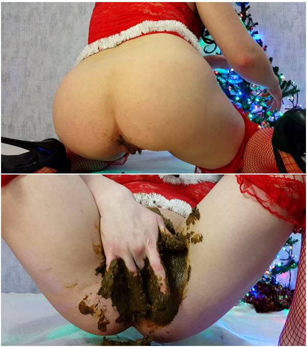 Anna Coprofield - Merry Shitty Christmas - Part 1 (eating scat videos)