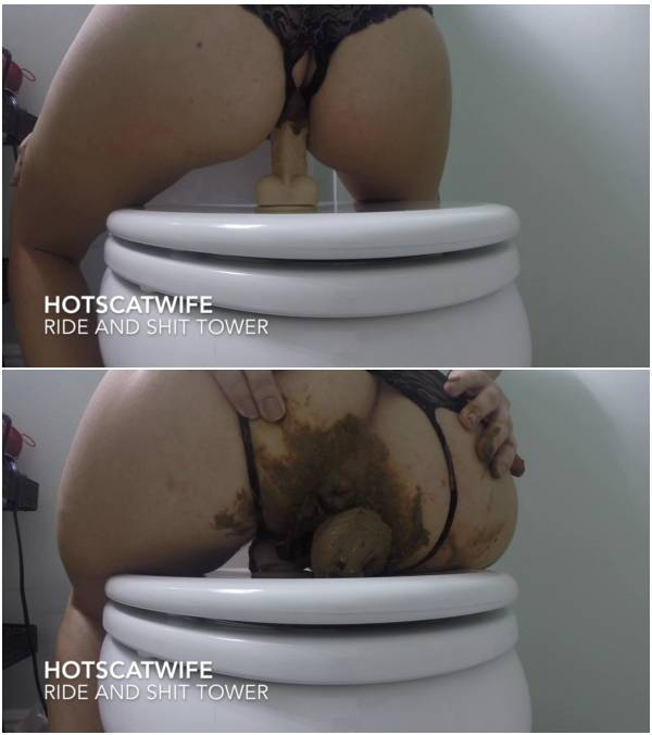 Hotscatwife – RIDE and SHIT TOWER (lesbian scat video)