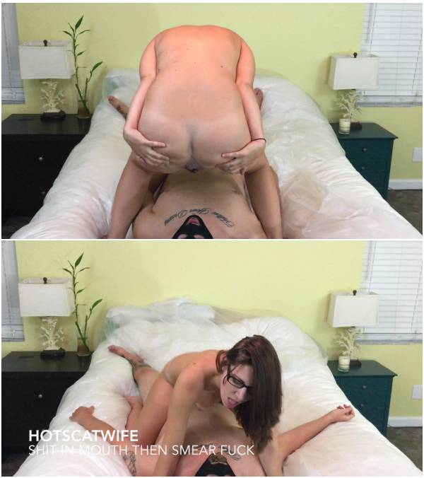 Hotscatwife - Shit in Mouth Then Smear Fuck (scat lesbian videos)