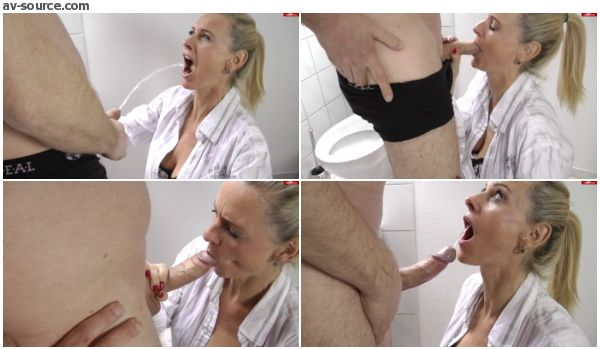 Menschliche Toilette mit Dirty-Tina