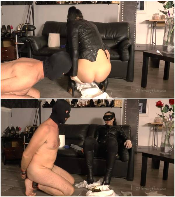 MistressGaia – Trapped In His Scat Diaper (black scat videos)