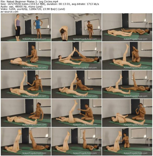 Naked Beginner Pilates 2- Leg Circles