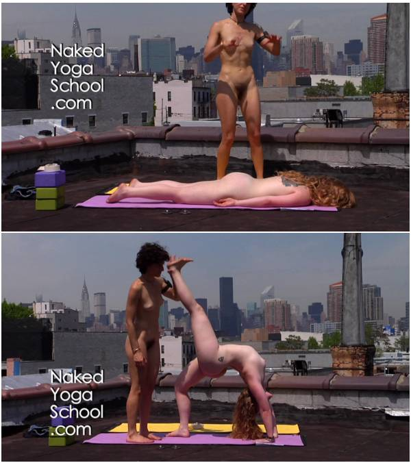 Naked Yoga on Rooftop 1- Backbends to Open the Heart