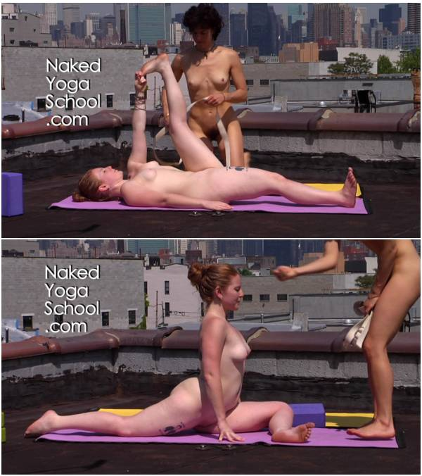Naked Yoga on Rooftop 4- Opening the Hips