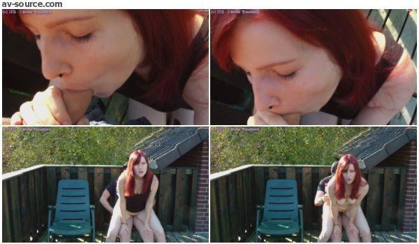OMG AO Creampie Quickie auf dem Balkon der Nachbarin mit 2BrokeTravelers