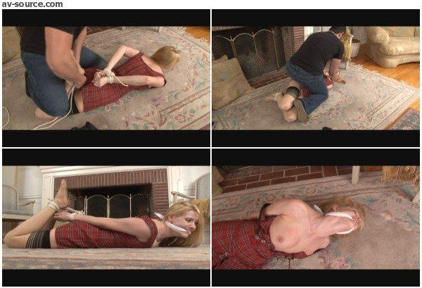 Cute Student Hogtied by Burglar - Carli Banks - BedroomBondage