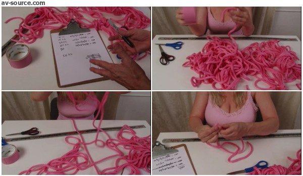 Cutting Your New Rope Set for Bondage - with Lorelei - BedroomBondage